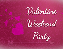 Valentine Weekend Party Flyer Set