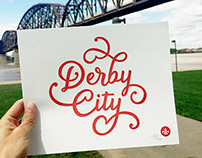 Derby City Letterpress Print