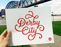 Derby City Letterpress Print