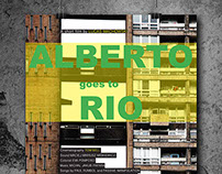 "Movie posters ""Alberto goes to Rio"""
