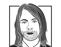 Kurt Cobain Monochrome