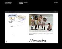 WEB + UX/UI designer portfolio website