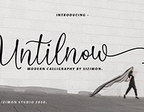 Untilnow Script Modern Calligraphy Free Fonts