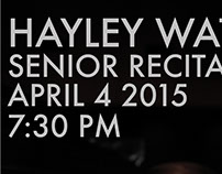 Watson Senior Recital Poster