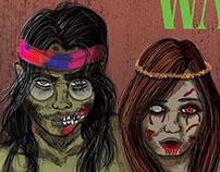 Hippie Zombie Walk Poster