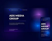 ADS MEDIA GROUP   Design website