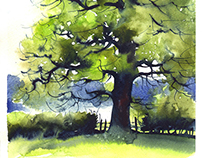 Video demonstration - Watercolor tree