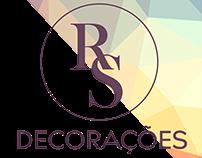 """Logo e Cartão de Visita """"RS Decorações"""""""