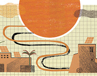 Solar power - editorial illustrations for TBY