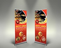 Restaurant Rollup Signage Template Vol7