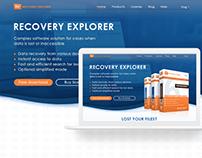 Website for software. RECOVERY EXPLORER. UI UX design