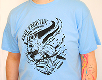Serigraphie tee-shirt / tote bag Blue Rabb'Ink