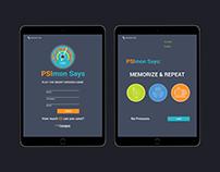 PSImon Says App Design
