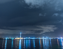 Time Lapse Porto Messina Before Rain