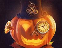 Halloween Steampunk Poster Design