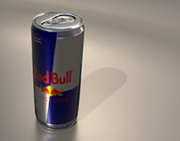Red bull can 3d modeling