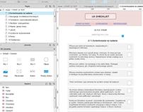 UX checklist wireframes