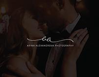 Arina Alexandrova wedding photographer logo.