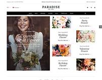 Paradise - Clean Flower WooCommerce WordPres Theme