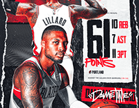 Damian Lillard | 61 Points