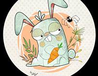 jasem magazine illustration cute bunny digital art