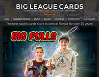 Big League Cards website design
