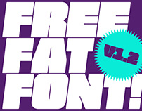 FREE FAT FONT V.1.2 - FREE EXTREMELY HEAVY WEIGHT FONT