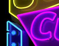 Cubelles - Neon sign