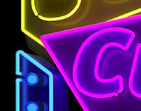 Cubelles - Neon sign