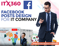 Facebook Posts Designs for IT Company ITX360