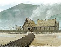 Illustration archéologique - Habitats lacustres