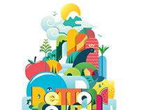 Vector logo - flat illustration