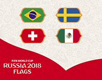 FIFA World Cup Russia 2018 - Flags