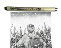 dotwork illustration | under the stars