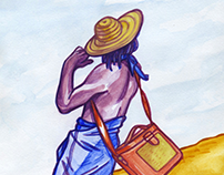 Orange Culture: Fashion Editorial Illustration