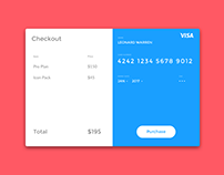 Daily UI #02 - Credit Card Checkout