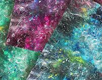A galactic ocean - Acrylic painting