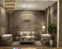 Rustic Living Room Interior Design