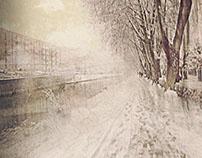 Toulouse, Canal du midi, under the snow