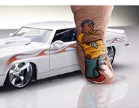 Campaña gráfica 40 años de Hotwheels en México