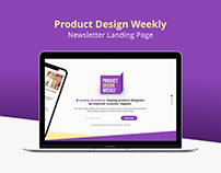 Landing Page for Newsletter Subscription