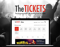 The Tickets Web Design