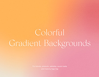Colorful Bright Gradient Backgrounds With Grain Texture