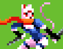 Kunoichi Cat - Pixel Art