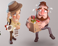 Cartoon Project -Advertising campaign