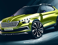 Press Sketches - Škoda Vision X