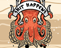 Octopus Poster & T-Shirt Design - Personal Project