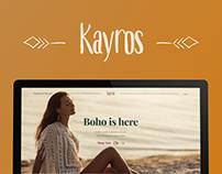 Online Store Website Concept