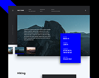 Landing page for Yosemite National Park