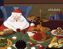 Santa Claus Dinner - Illustration